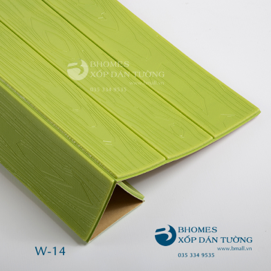 Xốp dán tường 3D vân gỗ